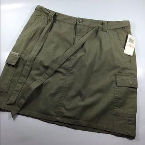 Calvin Klein army green skirt 100% cotton size 10
